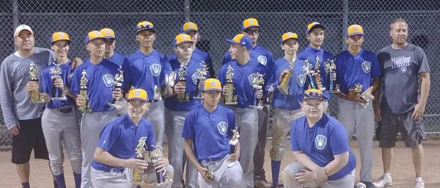 Brewers (managed by Chad Donahue) Pony League Champs