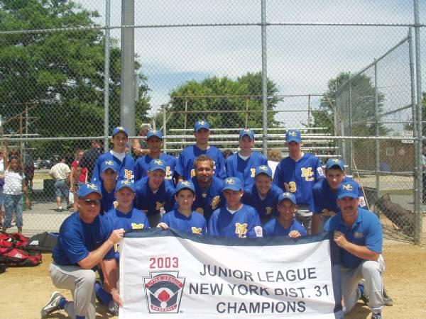 2003 District 31 Champs - Juniors Tournament Team