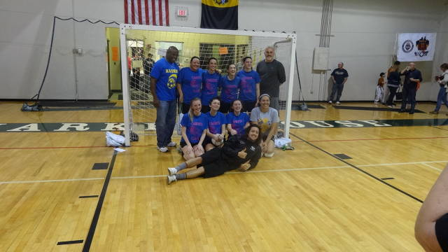 Carrick Girls Varsity Futsal Tournament Team with Nick Kolarac from Pittsburgh Riverhounds.
