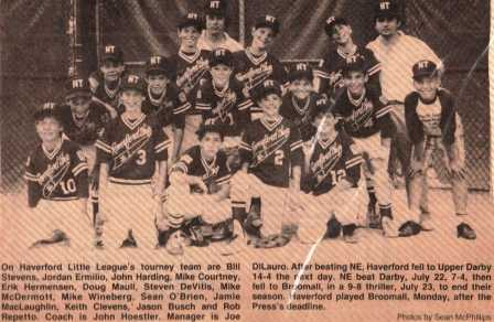 HTLL in the news - 1987 Tourn Team