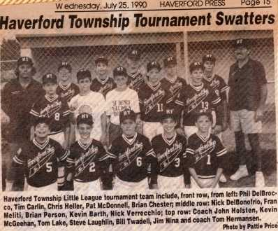 HTLL in the news - 1990 Tourn Team