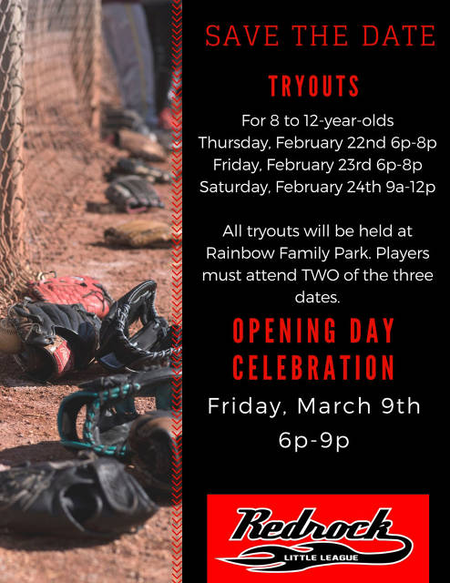Save the date - tryouts and opening day