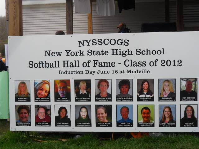 2012 NEW YORK STATE HIGH SCHOOL SOFTBALL HALL OF FAME INDUCTEES
