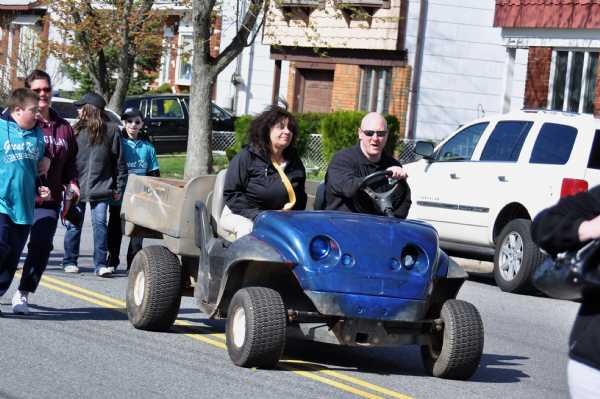 Rob Crocitto President of Baseball and Sue Adone Prsident of the Challengers Division and also one of our Grand Marshall's Leading the Parade