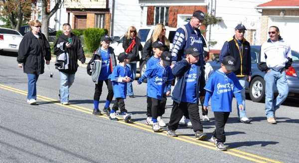 GKLL Boys walking in the parade, looking forward to starting the season!!