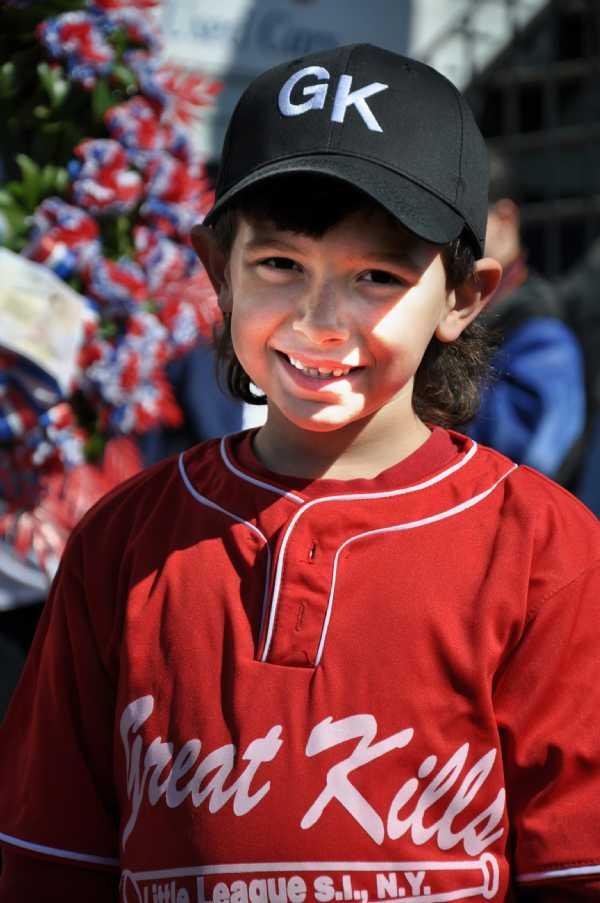 Mario Marsillo read the Pledge of Allegiance Opening Day 2010