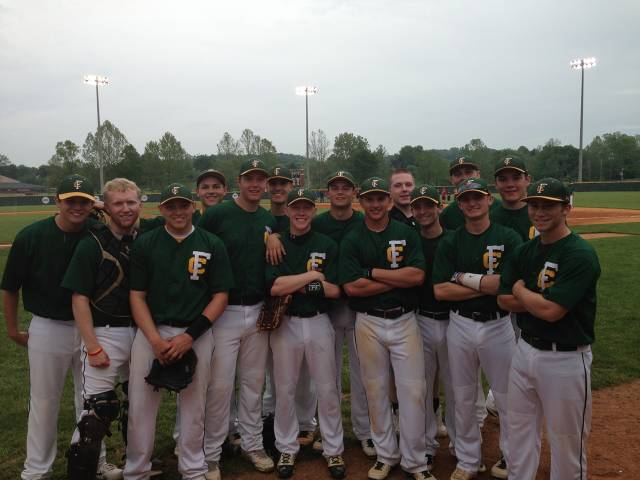 2013 HYR players on #1 ranked FC Baseball Team