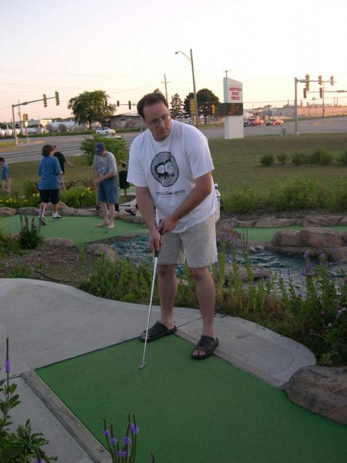 Jeff Bull prays for the sweet release of death at Libertyville, the 5th course of the day.