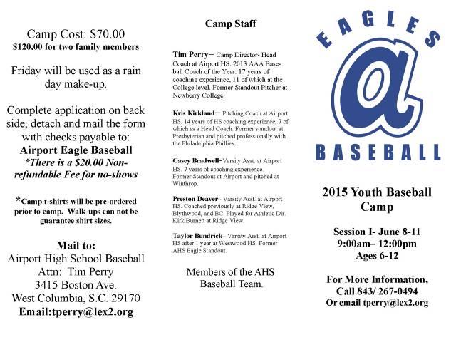 Airport Youth Baseball Camp P1