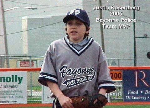 Bayonne Police 2005 Team MVP - Justin Rosenberg