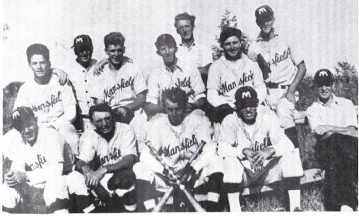 (Photo) Mansfield Baseball Team, 1938