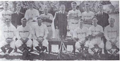 (Photo) Shelburne Baseball Team – N.D.B.L. Champions 1950