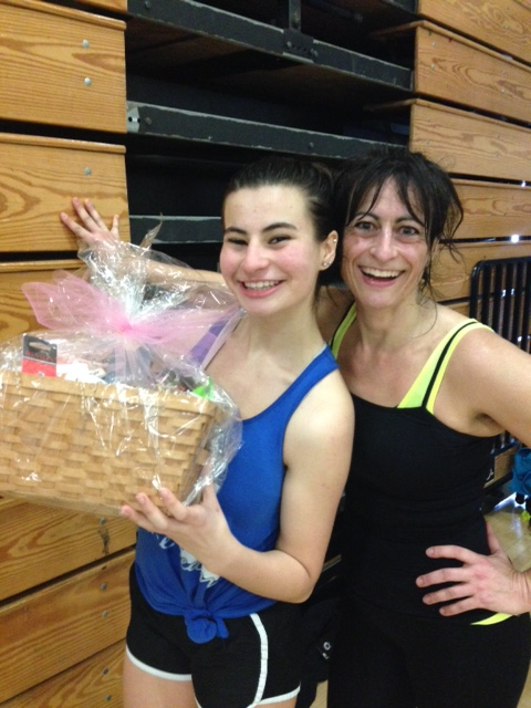 The Sanders ladies won a basket too!