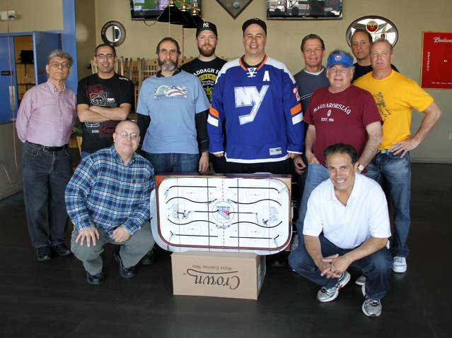 The 11 players who showed up and made the Classic Cup Playoffs 2015 a thing of beauty. From Left: Anthony, Moussa, Lou, Matt, Vinner, Len, James, John F, LD.  Kneeling on right: Bob D.