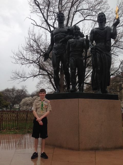Ben Turcich - visits the National Boy Scout Memorial