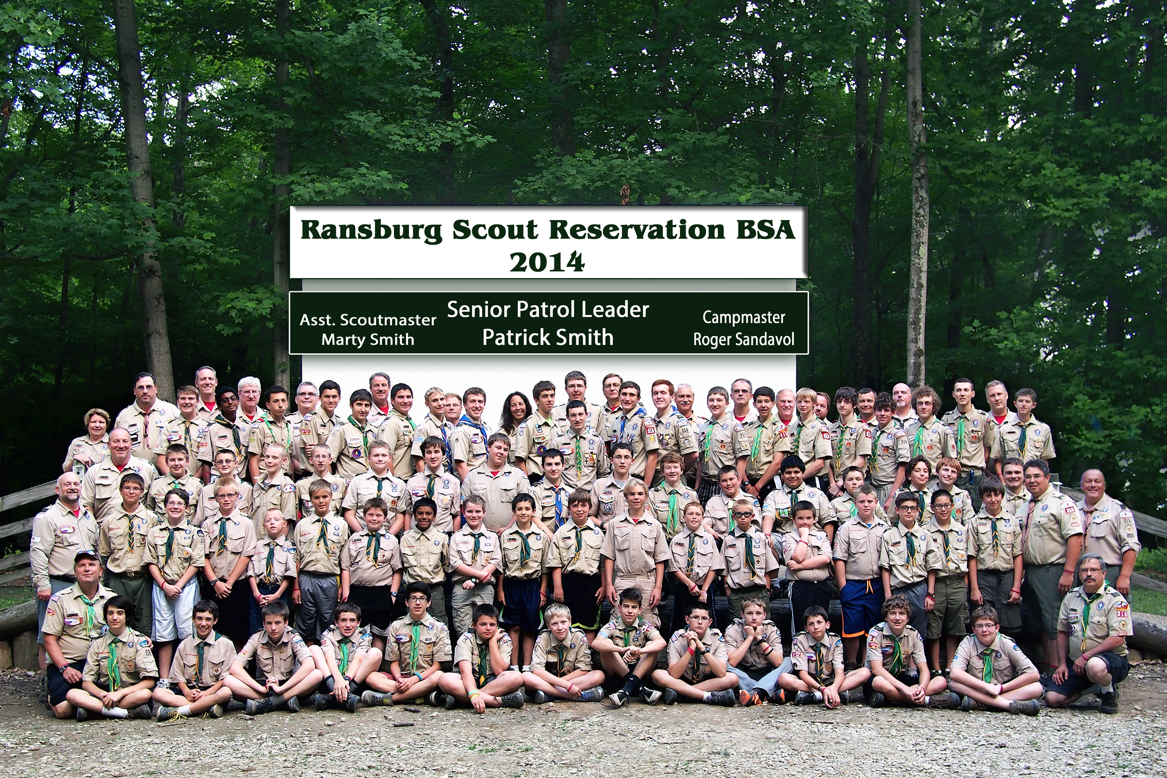 Troop 318 at Camp Ransburg 2014