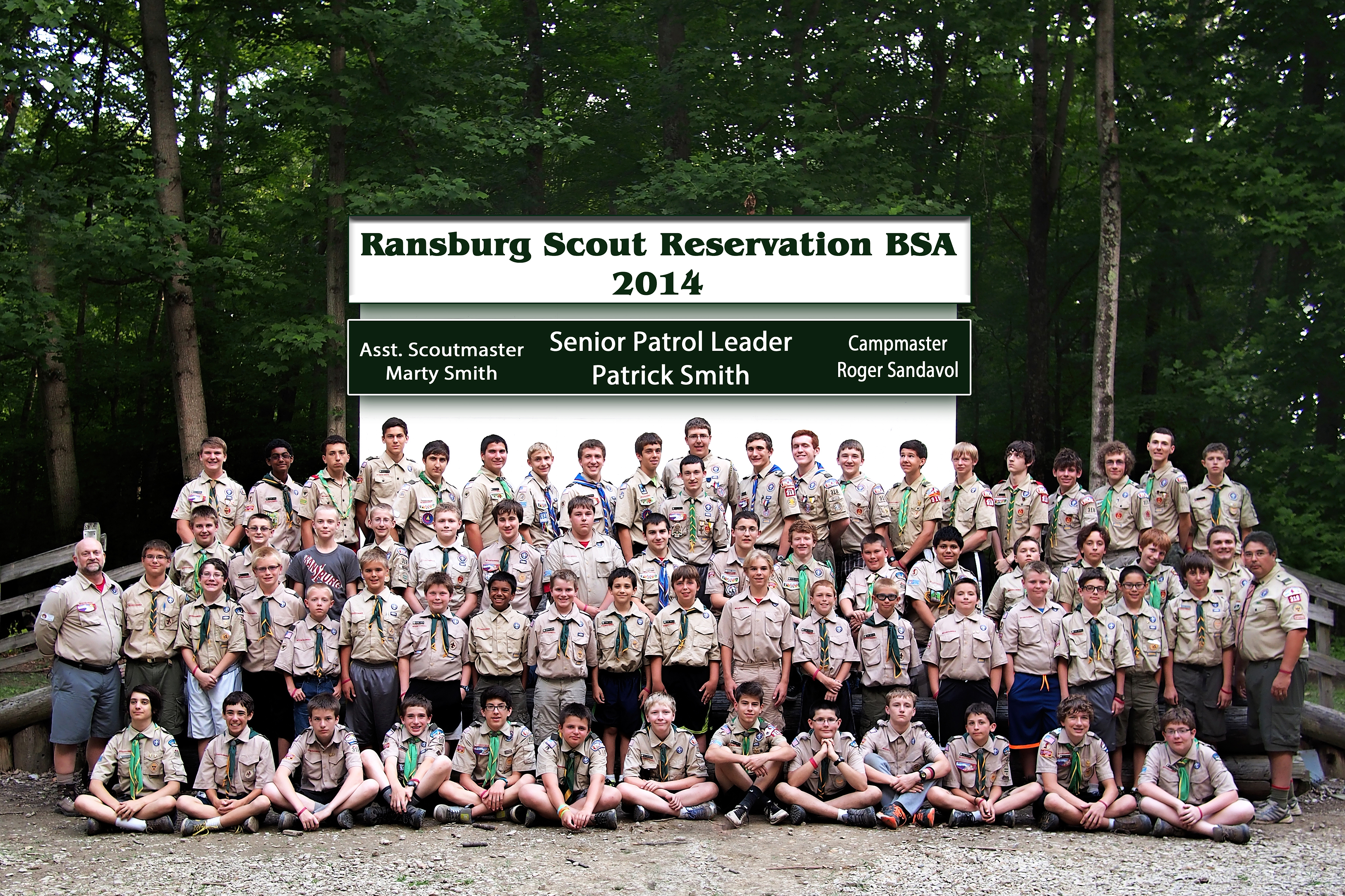 Troop 318 Scouts at Camp Ransburg