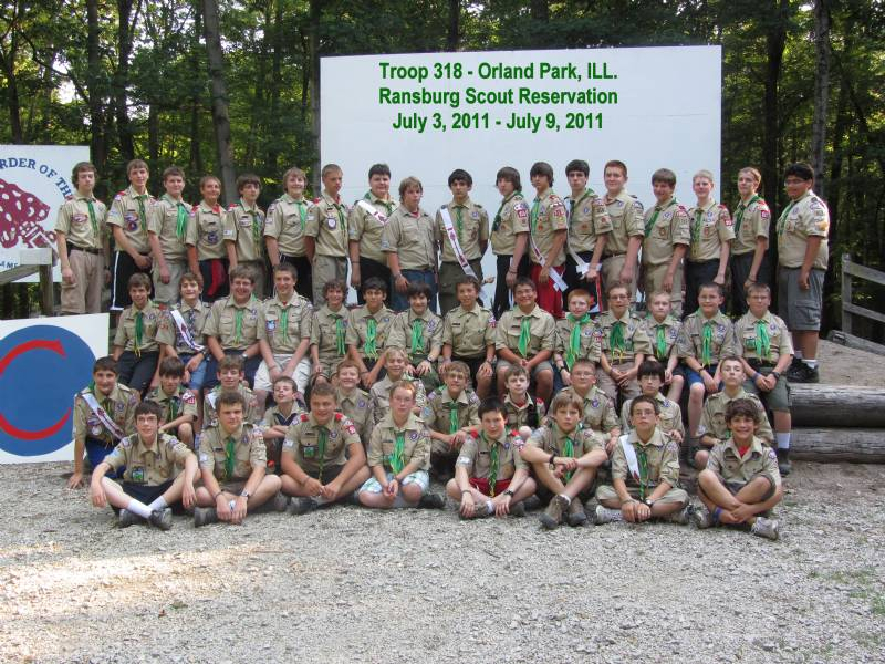 2011 - Scouts At Camp Ransburg