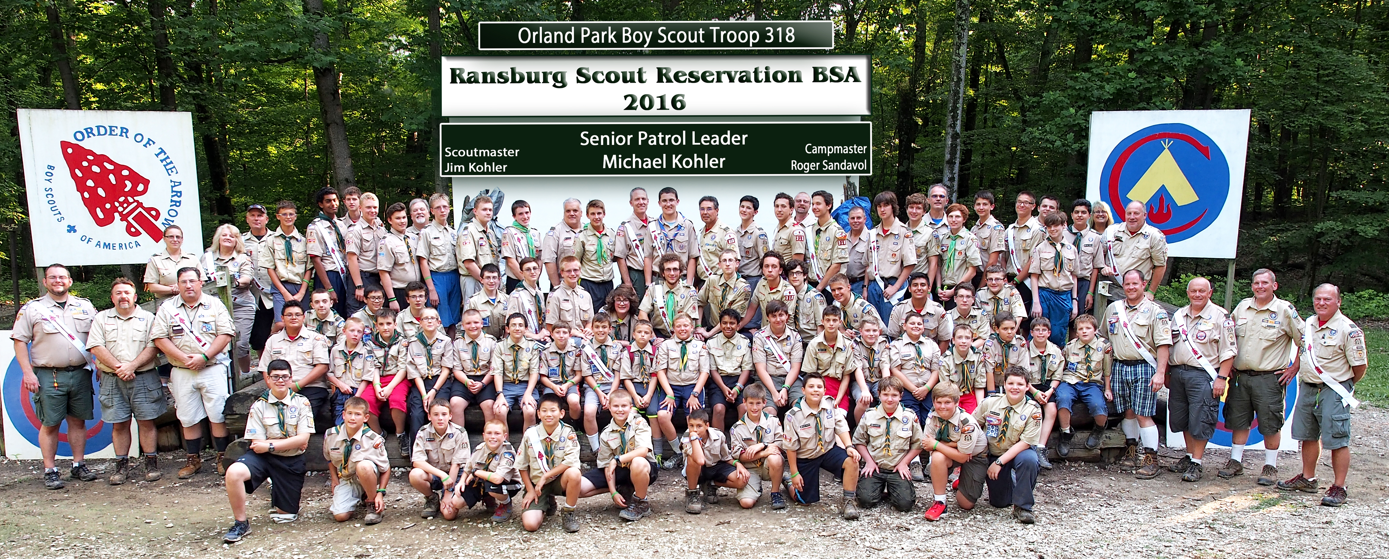 2016 Camp Ransburg - Troop 318 Scouts & Adults