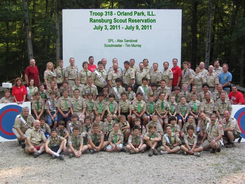 2011 - Troop 318 at Camp Ransburg Scoutmaster - Tim Murray SPL - Alex Sandoval