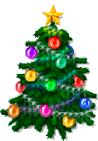 Colorful Decorated Christmas Tree Drawing