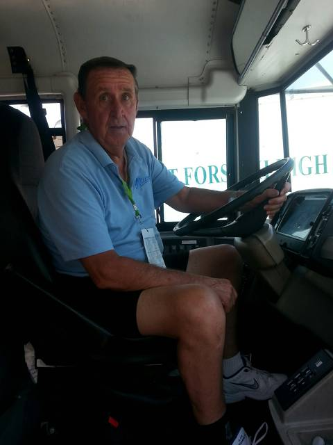 Hank Rivers - Our Bus Driver to UNCC