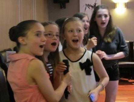 Club Championships 2012 - Great singing girls!