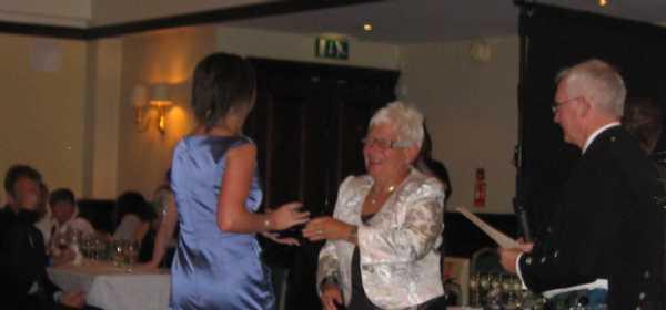 Lauren receiving her Award from Lynne Milne, President of S.G.