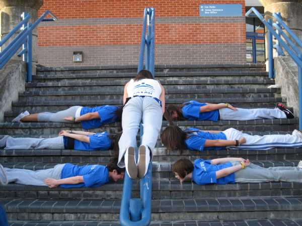 At the British Champs 2011 - apparently - 'planking'...............!??!!!
