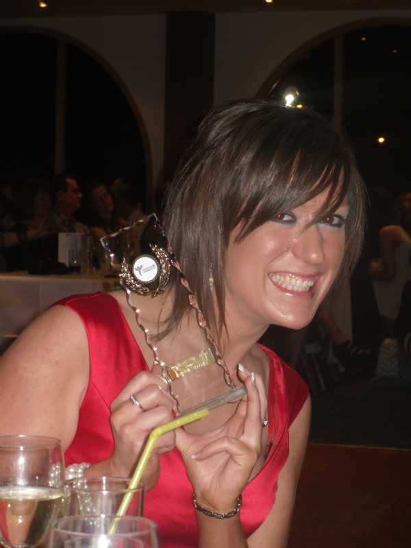 Lauren Jeffrey - Head Coach with her 'TRAMPOLINE COACH OF THE YEAR 2010' award from Scottish Gymnastics.