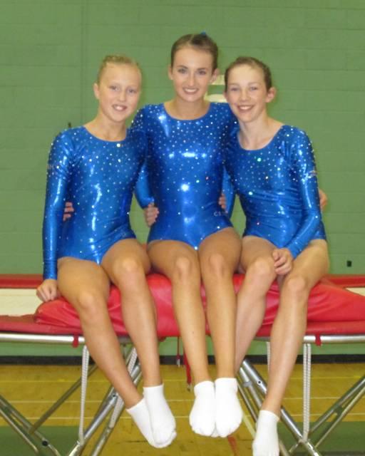 BRITISH CHAMPIONSHIPS 2013 Trampoline Qualifiers - Natasha Hoffmann, Caitlin O'Brien & Ciara Donlevy