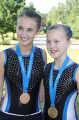 BRITISH CHAMPIONSHIPS 2013 -  Caitlin O'Brien (bronze medallist - NAT C DMT U19 ladies)& Natasha Hoffmann (British Champion- NAT C DMT U15 girls)