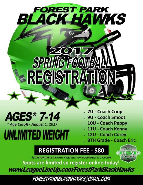 2017 Spring Football Registration