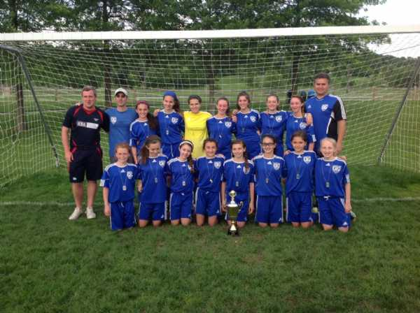 In Spring 2012, U14 Rockets won the MCYSA League Cup!!  Congratulation girls!!