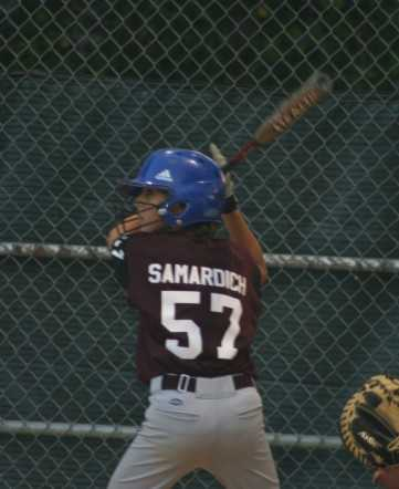Justin Samardich ready for the pitch