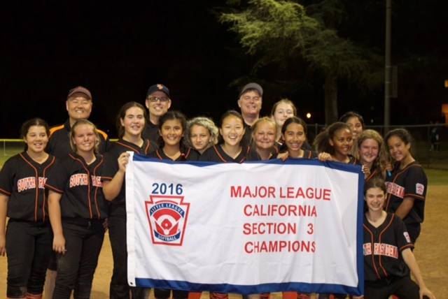 2016 Majors Softball Section 3 Champs
