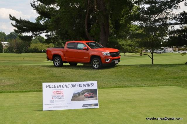 Hole-In-One Contest Prize sponsored by Criswell Chevrolet in Gaithersburg, Maryland