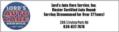 Lord's Auto Care - Serving Streamwood for 41 Years