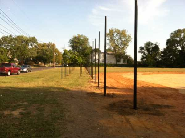 New Posts are goin up on the first base side.