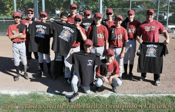 2011 Fall Ball Champion D-Backs Oct 29,2011