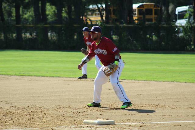 "Julian ""Colombia "" Villarreal manning 1st base"