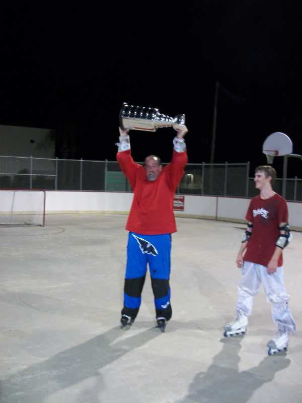 Big Bob with the cup.