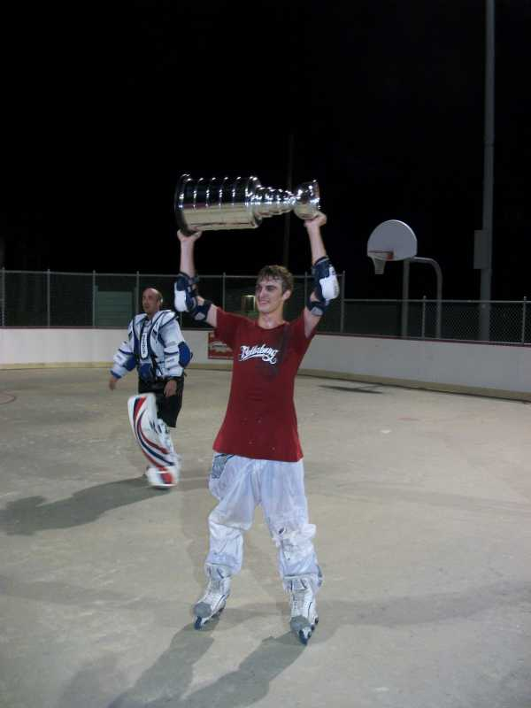 Stephen Hood with the cup.
