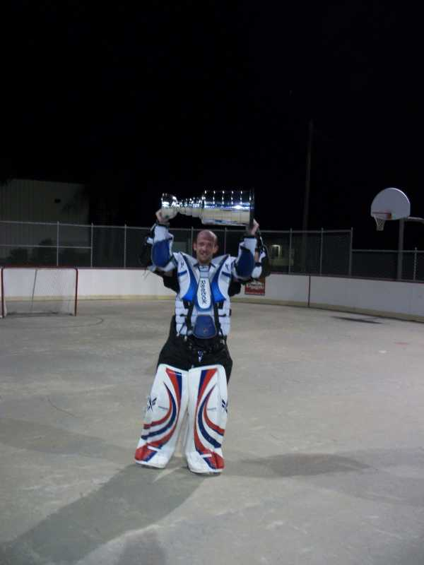 Matt Wentworth and the cup.