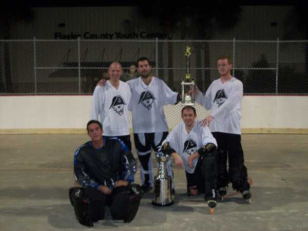 Summer 2011 Champs - Milwaukee Admirals (left to right) Ryan Garside, Dan Driscoll, Joe Lorbeck, Mike Banks, Danny McIntyre