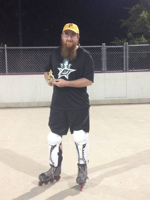 Colin Dougherty and his Norris trophy.
