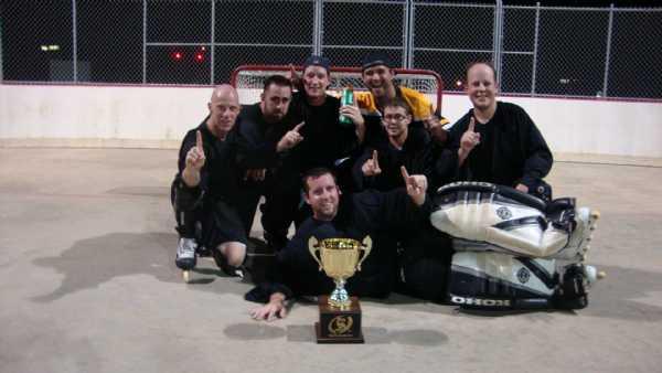 2012 Summer League Champion - Lightning  (from left to right)  Dan Driscoll, Bobby Perham, Frankie Terranova, Andy Johnson, Matt Haase, Dave Mancini, Scott Gafford