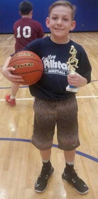 2018 Basketball Junior Boys Three-Point Shootout Champion