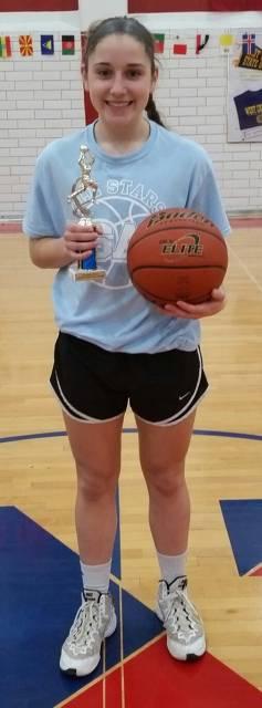 2018-Basketball Senior Girls Three-Point Shootout Champion