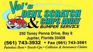 Val's Dent, Scratch,& Chips Away Bumper Service